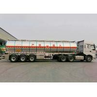 Wholesale 40000L Insulated Tank Semi Trailer , Aluminum Tanker Trailer With 3 BPW Axles from china suppliers