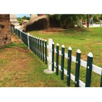 PVC Lawn Decorative Metal Fencing Zinc Coated Square Tube Section 30-60cm Height