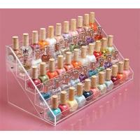 Wholesale wall mounted acrylic/perspex 5 tiers nail polish display rack/Acrylic wall nail polish di from china suppliers