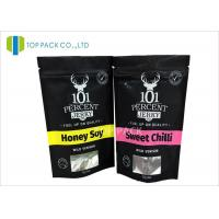 Buy cheap Matte Finished Aluminum Foil Bags Clear Window Beef Jerky Stand Packaging from wholesalers