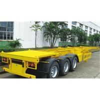 China Skeleton Container Flatbed Semi Trailer With 40 Ft Container 3mm Diamond Plate on sale