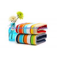 Wholesale Best quality cheap 100% cotton striped towel bath towel on sale from china suppliers