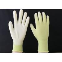 Wholesale 13 Gauge Polyurethane Coated Gloves Green Nylon Seamless Reusable Design from china suppliers
