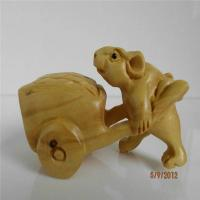 Boxwood carved mouse action of item