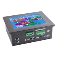 Wholesale 4xRJ45 8'' I3 Wall Mount Industrial Computer PCAP Touch Windows 10 from china suppliers