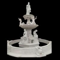 Wholesale Garden Freestanding marble stone fountain with pool, china marble sculpture supplier from china suppliers