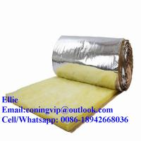 Wholesale 24kg/m3 glass wool insulation roll with Aluminum foil on one side from china suppliers