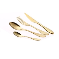 Wholesale Smooth Edges Rose Gold 206mm 1810 Stainless Steel Fork And Spoon Set from china suppliers