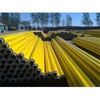 Quality Pre-insulation pipe extrusion production line with pe yellow\black jacket pipes for sale