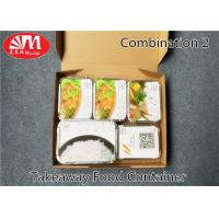 Wholesale 1360ml Volume Aluminium Foil Takeaway Food Containers 5 Compartments Various Size from china suppliers