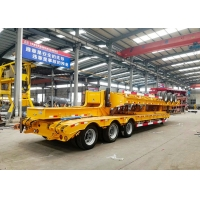Wholesale 3 Axles 50 Tons Low Bed Semi Trailer Cargo Digger Trailer Heavy equipment from china suppliers