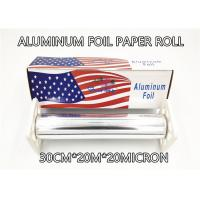 Wholesale Household Catering Aluminum Foil Paper Roll Aluminum Foil For Food Packaging 30cm 200m 20micron Thickness Big Box Pack from china suppliers