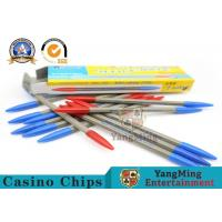 Wholesale 157g Baccarat Gambling Systems Roulette Texas Hold 'Em Casino Game Dedicated Red And Blue Two Color Record Pen from china suppliers