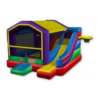 Wholesale Royal Inflatable Basketball Bounce House , Sports Games Castle Bounce House With Slide from china suppliers
