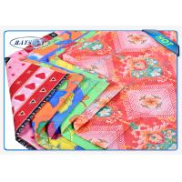 China Fashion Embossed Pattern 3 Colors Printed White PP Spunbond Fabric Roll on sale