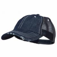 Wholesale Special Cotton Mens Trucker Caps , Denim Low Profile Cool Trucker Hats For Men from china suppliers
