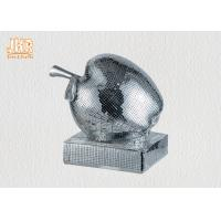 Quality Small Mosaic Glass Fiberglass Apple With Square Base Sculpture Decoration for sale