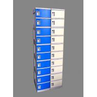 China 10 Tier Beige / Yellow Charging Station Lockers 2 Layer Cell Phone Charging Lockers on sale