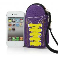 Wholesale special shoes design soft mobile neoprene phone pouch bag with wrist strap to take from china suppliers