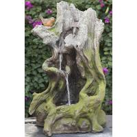 China Old Wooden Stake Decorative Outdoor Tiered Water Fountains In Cement Material wholesale