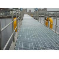 Wholesale Galvanized Bar Grating Mesh , Industrial Floor Grates For Platform / Parking Lot from china suppliers