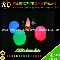 Wholesale RGB PE Plastic Round Bar Stool with LED from china suppliers