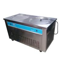 Wholesale Double Pans Thai Rolled Ice Cream Machine , Flat Ice Cream Maker 2000W from china suppliers