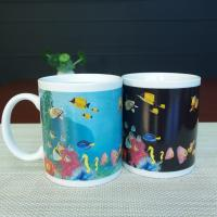 Wholesale Blue Patch Ocean Custom Magic Mug With AB Grade White Ceramic from china suppliers