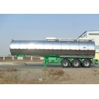 Wholesale Carbon Steel Insulated Tanker Trailers , Tri Axle Palm Oil Tank Semi Trailer from china suppliers
