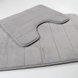 Wholesale Customized Shape Flannel Memory Foam Bath Mat SBR Backing from china suppliers