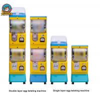 Wholesale Yellow Bubble Gum Machine , Spiral Gumball Machine With Double Layer from china suppliers