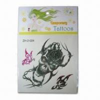 Wholesale Non-Toxic Tattoo Sticker with Fulfill Color Printed, Single Animal Style Design from china suppliers