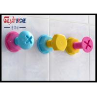 Plastic Single Coat Hooks Wall Mounted Holder With Cute / Funny Design