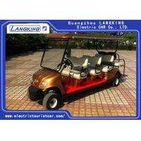 Wholesale Golden Colour  Electric Golf Carts 8 Seater With Curtis Controller For Hotel Reasort from china suppliers