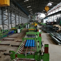 China 0.2-0.5 Mm Material Thickness Auto Stacker 6m Building Material Roofing Tile Roll Forming Machine on sale