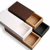 Wholesale Drawer Style Custom Printed Boxes Durable 350g Brown Kraft Paper Material from china suppliers