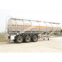China 36000 Litres fuel tanker trailer with tri - axle GUANGDONG FUWA alxes wholesale