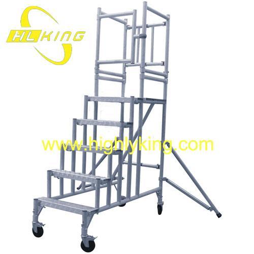 4 Aluminum Rolling Scaffold : Diy aluminium working platform rolling scaffold