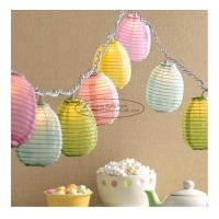 Wholesale Blue green yellow egg shape Paper Lantern String Lights easter baby shower decoration from china suppliers