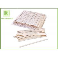China Grade A Short Wooden Coffee Stirrer Sticks For Vending Machine Non Toxins wholesale