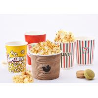 32oz Reusable Custom Printed Popcorn Buckets For Eating Shops , Eco Friendly