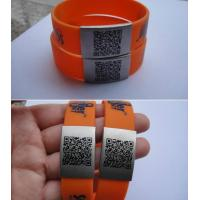 Wholesale 2014 new design Custom size wholesale silicone customized qr code bracelet from china suppliers