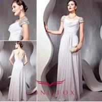 Wholesale gorgeous plus size mother of bride dresses,  pleated grey mother of bride dresses plus size from china suppliers