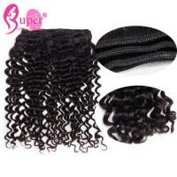 """Buy cheap 12"""" Indian Remy Curly Hair Extensions / Virgin Human Hair Weave Bundles from wholesalers"""