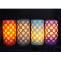 China Party decoration  Real Wax Electronic Candles , Carved craft LED candle wholesale