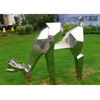 Wholesale Life Size Animal Deer Stainless Steel Sculpture For Garden Decoration from china suppliers