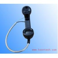 Wholesale SUS Cable Telephone Handsets PC / ABS Black Insulation Anti-strike from china suppliers