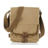 Wholesale Khaki Black cowhide satchel Cotton Canvas Messenger bag backpack vertical from china suppliers