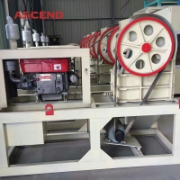 Wholesale Mobile Tyre 11HP Diesel Jaw Crusher from china suppliers