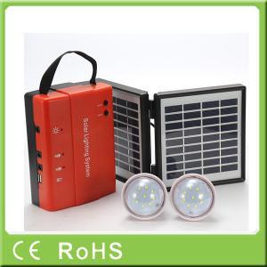 Wholesale 3.4W 9V lead acid battery portable mini power solar home lighting system